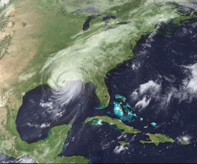 Hurricane Katrina Arrives August 30, 2005